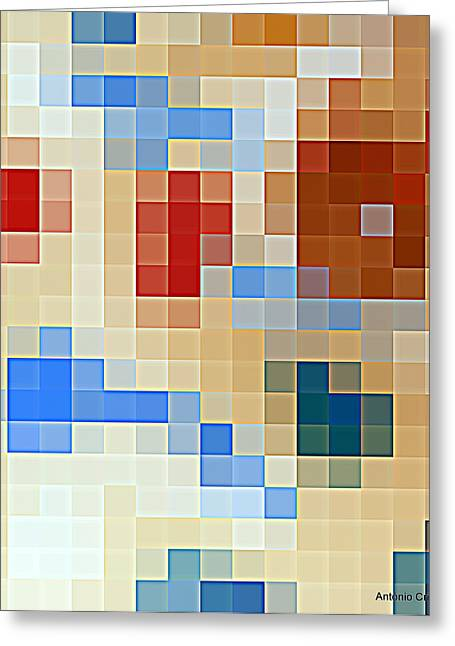 Textured Ceramics Greeting Cards - Abstract TilesTexture  Greeting Card by Antonio  Cristo