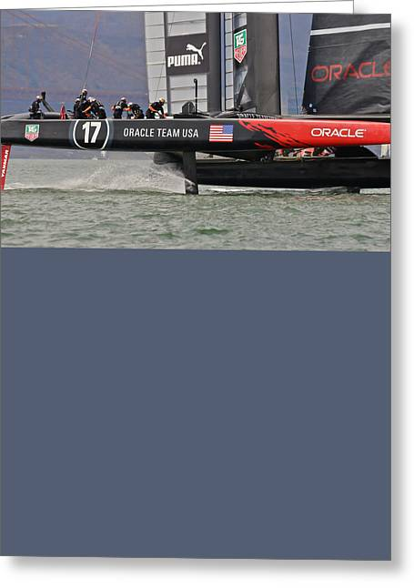 America's Cup San Francisco Greeting Card by Steven Lapkin