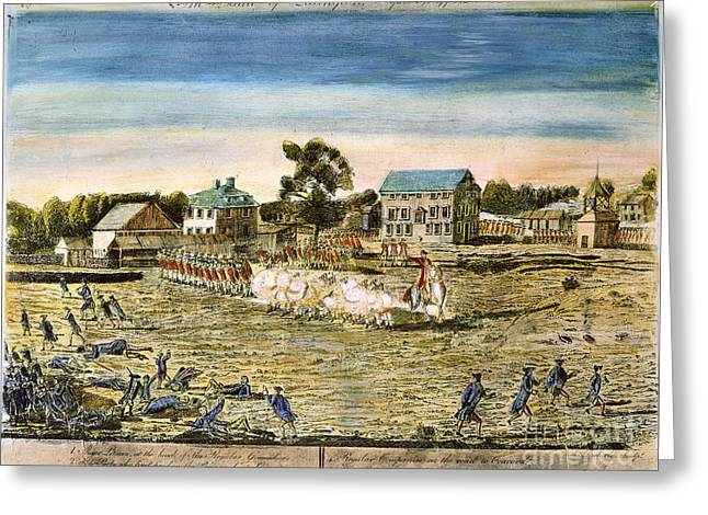 Redcoats Greeting Cards - Battle Of Lexington, 1775 Greeting Card by Granger