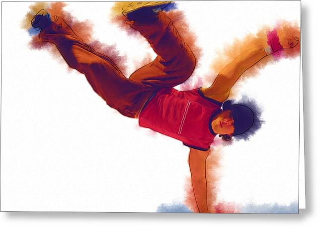 Ballet Dancers Greeting Cards - Dance Belly Greeting Card by Michael Vicin