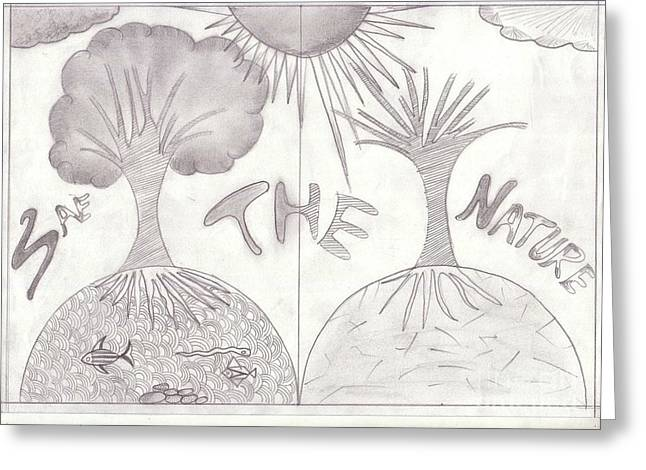 Save Our Planet Drawings Greeting Cards - 17 Greeting Card by Disha Joshi
