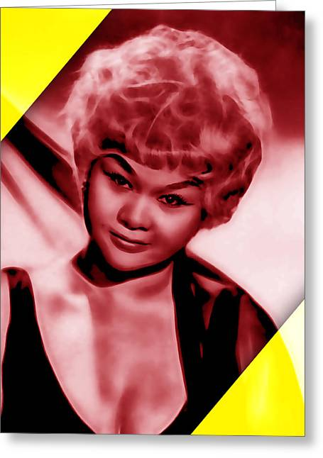 Pop Art Greeting Cards - Etta James Collection Greeting Card by Marvin Blaine