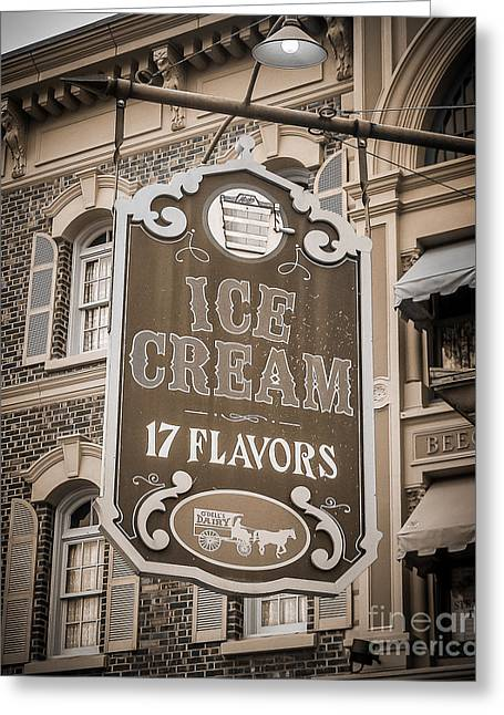 Store Fronts Greeting Cards - 17 Flavors Greeting Card by Perry Webster