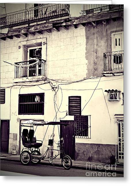 Recently Sold -  - Old Street Greeting Cards - Havana Cuba Greeting Card by Chris Andruskiewicz