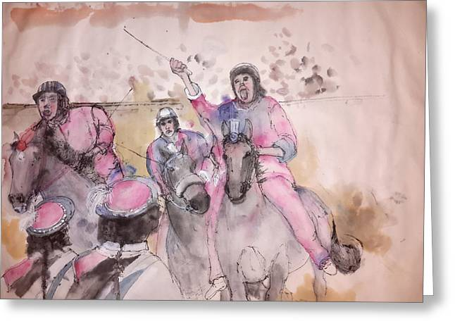 Race Horse Greeting Cards - Il Palio di Siena album Greeting Card by Debbi Chan