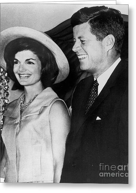First-lady Photographs Greeting Cards - John F Kennedy (1917-1963) Greeting Card by Granger