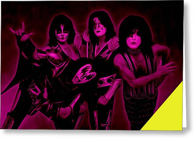 Pop Art Greeting Cards - Kiss Collection Greeting Card by Marvin Blaine