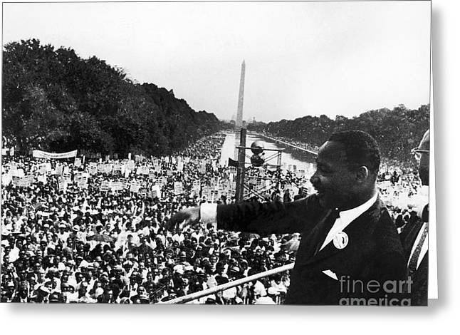 Obelisk Greeting Cards - Martin Luther King, Jr Greeting Card by Granger