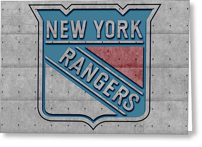 Ice-skating Greeting Cards - New York Rangers Greeting Card by Joe Hamilton
