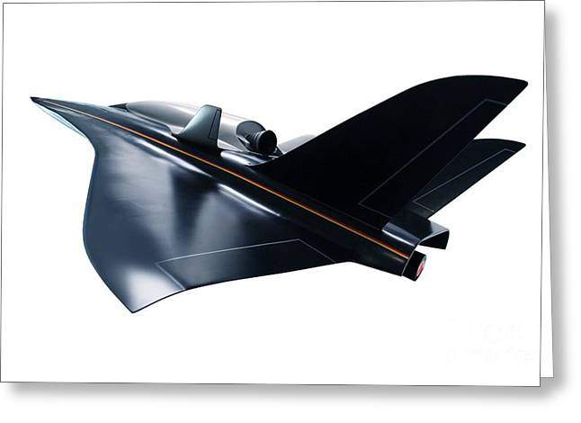 Horus Greeting Cards - Saenger Horus Spaceplane, Artwork Greeting Card by Detlev van Ravenswaay