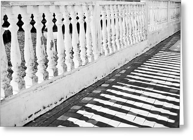 Banister Greeting Cards - Stone wall Greeting Card by Tom Gowanlock