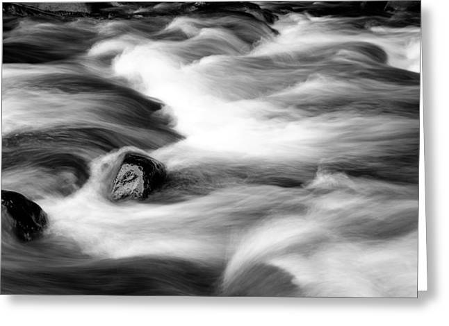 Flowing Stream Greeting Cards - Stream Greeting Card by Les Cunliffe