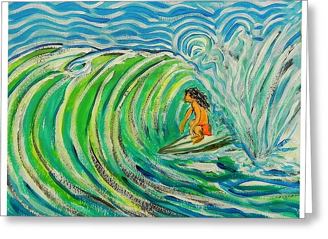 Surfing Art Greeting Cards - Surfart Greeting Card by W Gilroy