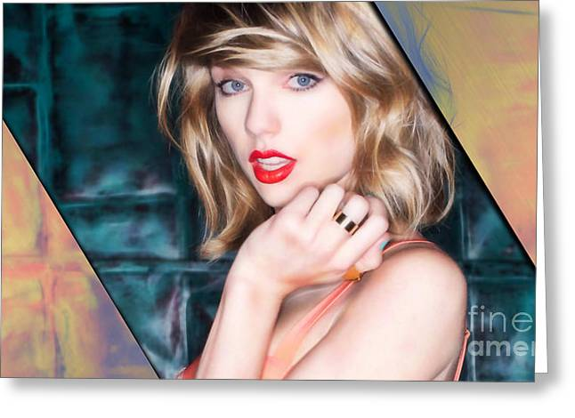 Cool Art Greeting Cards - Taylor Swift Collection Greeting Card by Marvin Blaine