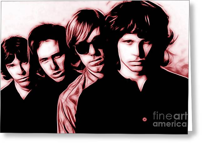 Rock N Roll Greeting Cards - The Doors Collection Greeting Card by Marvin Blaine