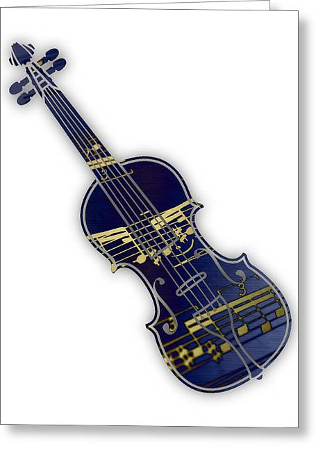 Violin Collection Greeting Card by Marvin Blaine