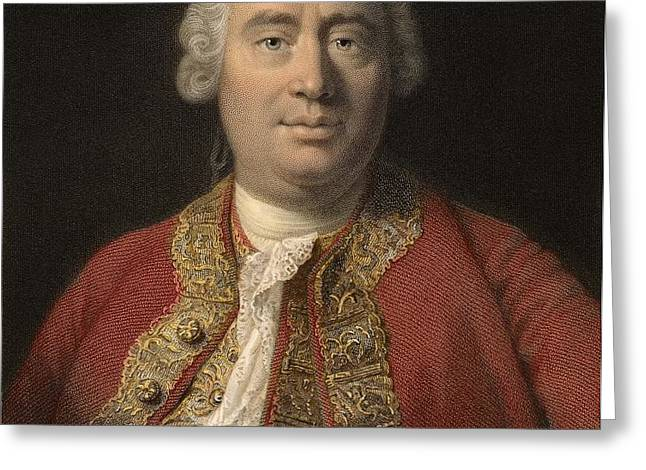1766 David Hume Philosopher Of Science Greeting Card by Paul D Stewart