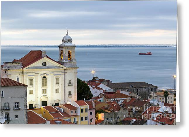 Historic Architecture Greeting Cards - Alfama Greeting Card by Andre Goncalves