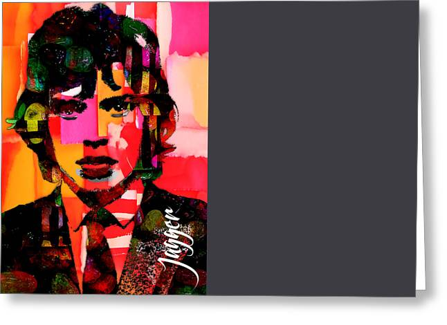 Jagger Greeting Cards - Mick Jagger Collection Greeting Card by Marvin Blaine