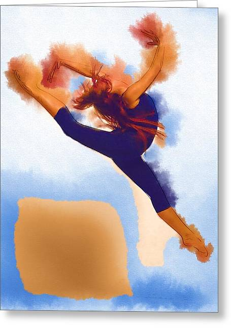 Ballet Dancers Greeting Cards - On Dance Greeting Card by Michael Vicin