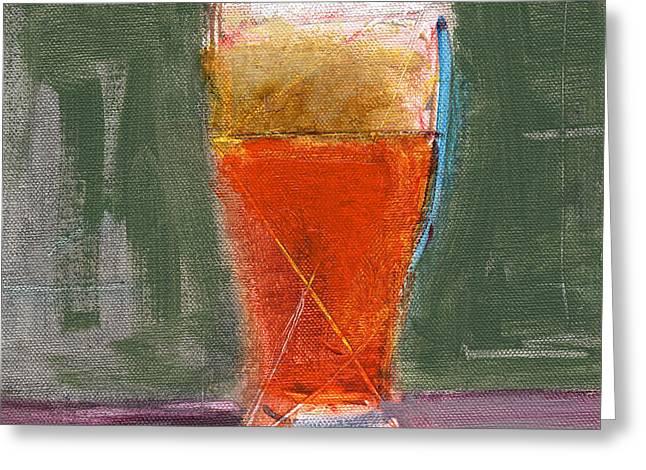 Beer Art Greeting Cards - RCNpaintings.com Greeting Card by Chris N Rohrbach