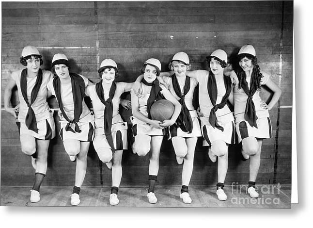 Sportswoman Greeting Cards - Silent Film Still: Sports Greeting Card by Granger