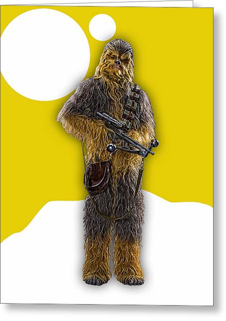 Star Wars Chewbacca Collection Greeting Card by Marvin Blaine