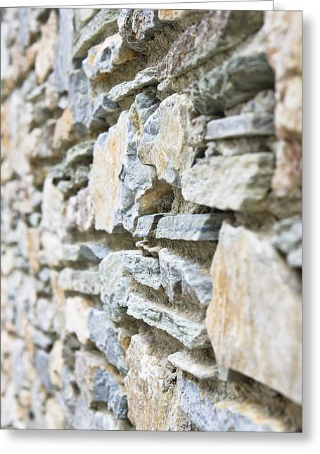Stonewall Photographs Greeting Cards - Stone wall Greeting Card by Tom Gowanlock