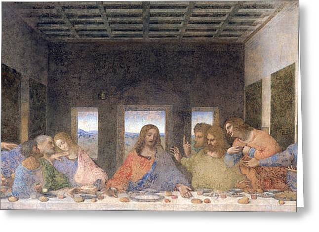 The Last Supper Greeting Card by Leonardo Da Vinci