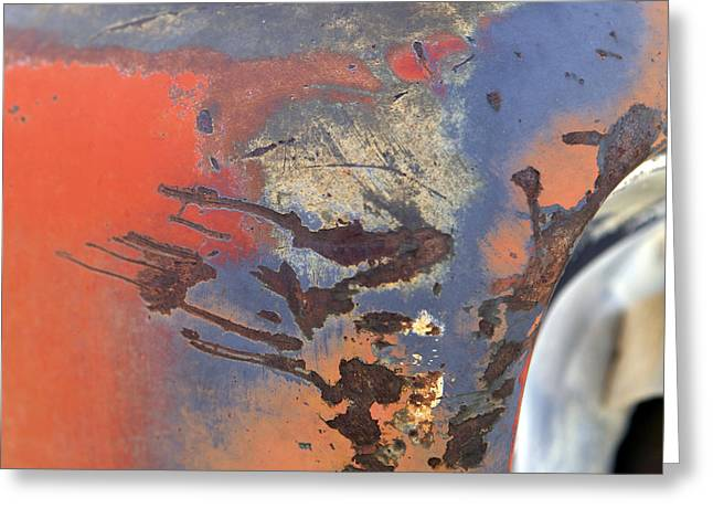 Rusted Cars Greeting Cards - Untitled Greeting Card by Glennis Siverson