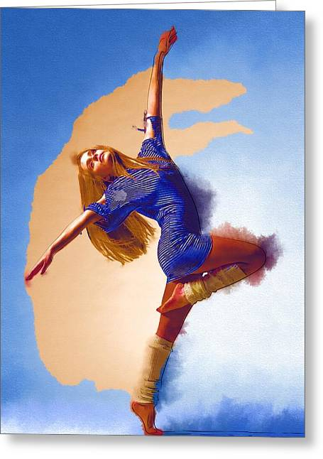 Ballet Dancers Greeting Cards - You Can Dance Greeting Card by Michael Vicin