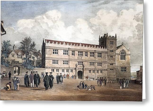 Samuel Greeting Cards - 1818 Darwins Shrewsbury School Greeting Card by Paul D Stewart