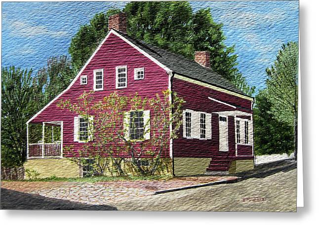Old House Photographs Paintings Greeting Cards - 1831 historical Denke house in old sale of NC Greeting Card by Jason Zhang