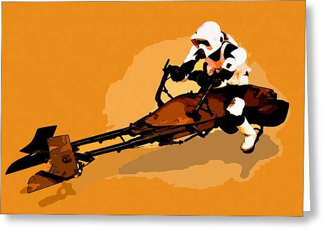 Storm Prints Digital Greeting Cards - Star Wars Greeting Card by Elena Kosvincheva