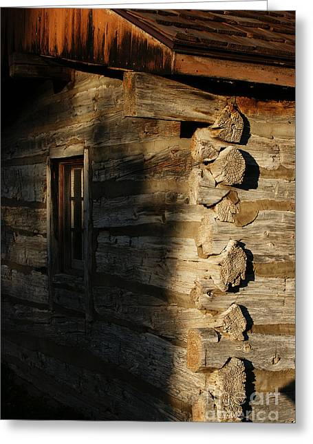 Cabin Window Greeting Cards - 1854 Greeting Card by Linda Knorr Shafer