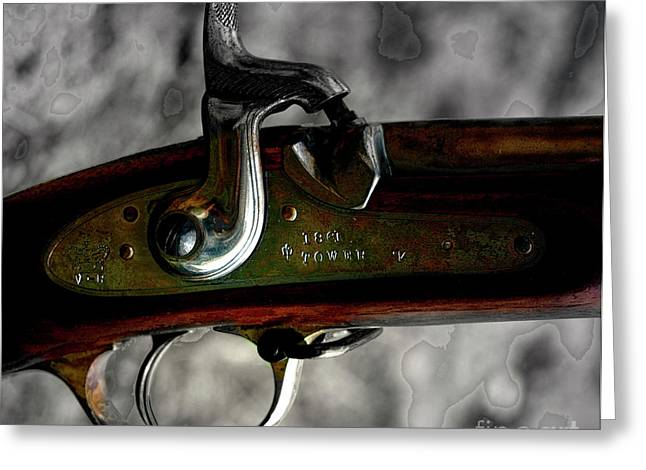 Enfield Greeting Cards - 1861 Tower Enfield Rifle  Greeting Card by Steven  Digman