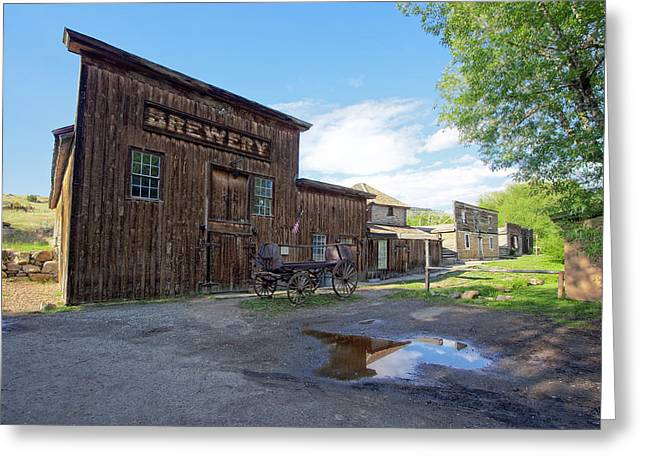 False Front Greeting Cards - 1863 H. S. Gilbert Brewery - Virginia City Ghost Town Greeting Card by Daniel Hagerman