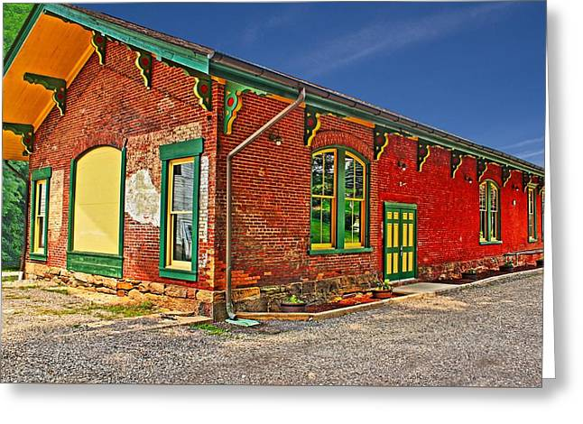 Print Photographs Greeting Cards - 1864 Saltsburg Railroad Station Greeting Card by Brian Hamilton
