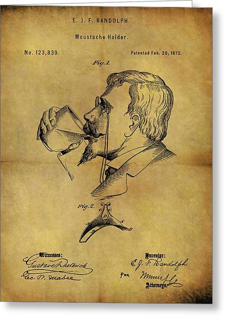1872 Mustache Holder Patent Greeting Card by Dan Sproul