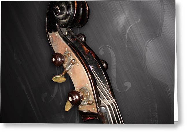 Rockabilly Digital Art Greeting Cards - 1880 Bass - Scroll Greeting Card by Lisa A Bello