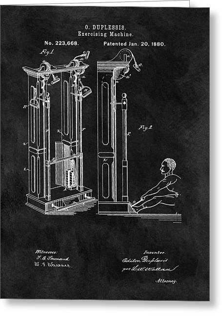 1880 Exercise Machine Patent Greeting Card by Dan Sproul