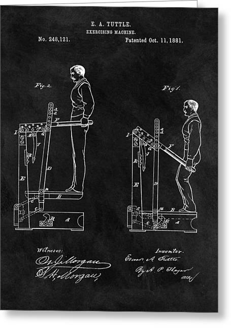 1881 Exercise Machine Illustration Greeting Card by Dan Sproul