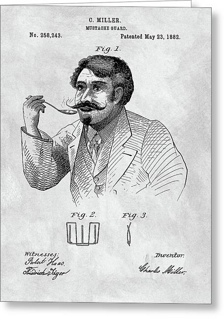 1882 Moustache Guard Patent Greeting Card by Dan Sproul