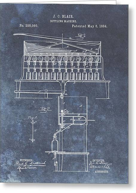 1884 Bottling Patent Greeting Card by Dan Sproul