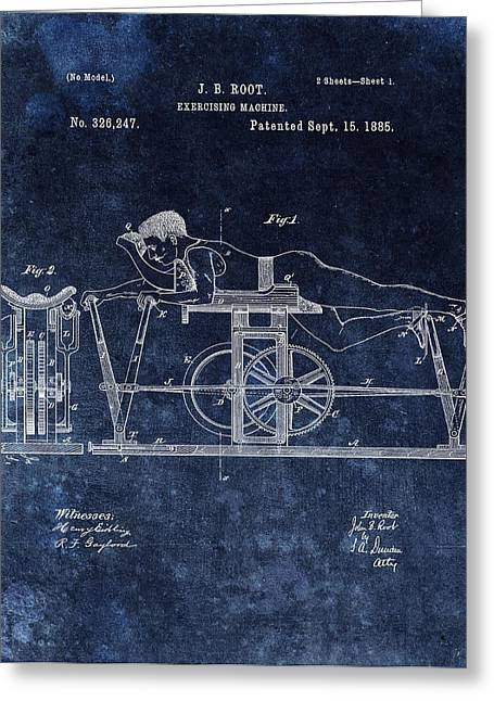 1885 Exercise Machine Patent Greeting Card by Dan Sproul