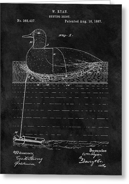 1887 Duck Decoy Patent Greeting Card by Dan Sproul
