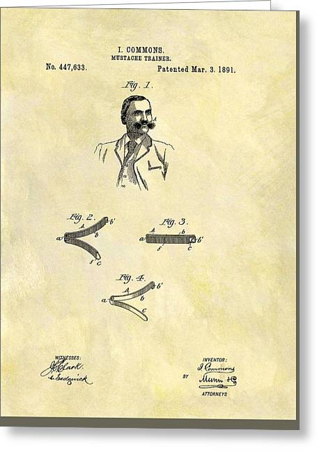 1891 Mustache Trainer Greeting Card by Dan Sproul