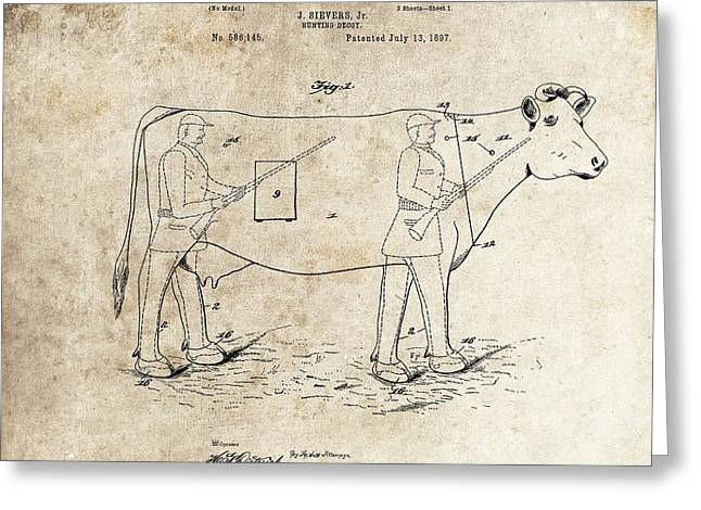 1897 Hunting Decoy Patent Greeting Card by Dan Sproul