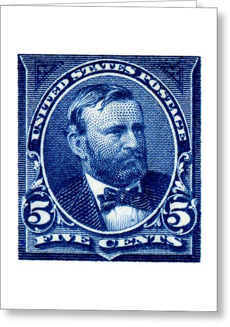 Republican Greeting Cards - 1898 Ulysses S. Grant Stamp Greeting Card by Historic Image