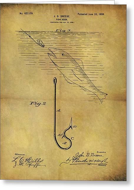 1899 Fish Hook Patent Greeting Card by Dan Sproul